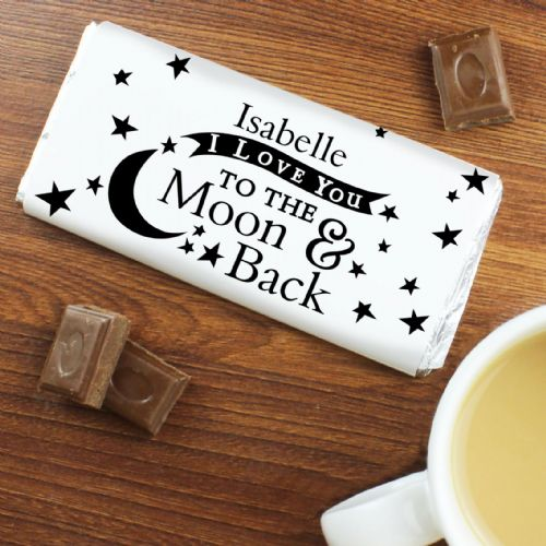 Personalised To the Moon and Back... Chocolate Bar